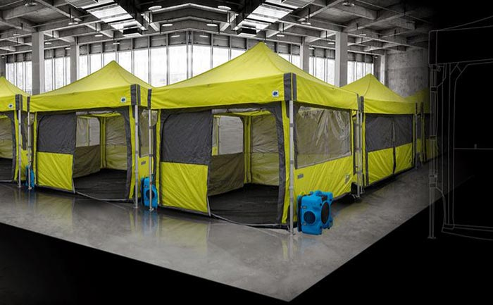 Sealed Safety Tents